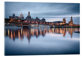 Quadro em acrílico  Dresden old town at the blue hour - Philipp Dase