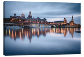 Quadro em tela  Dresden old town at the blue hour - Philipp Dase