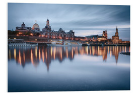 Quadro em PVC  Dresden old town at the blue hour - Philipp Dase