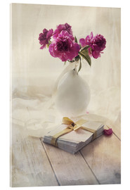 Quadro em acrílico  Still life with pink peonies and love letters - Jaroslaw Blaminsky