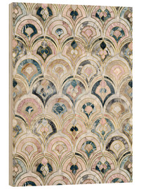 Quadro de madeira  Art Deco Marble Tiles in Soft Pastels - Micklyn Le Feuvre