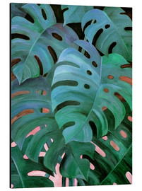 Quadro em alumínio  Monstera Love in Teal and Emerald Green - Micklyn Le Feuvre