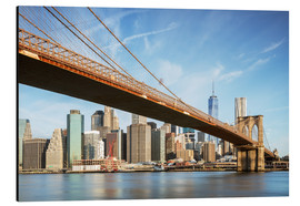 Quadro em alumínio  Brooklyn bridge and Manhattan skyline at sunrise, New York city, USA - Matteo Colombo