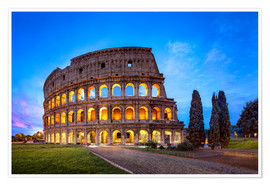 Póster Premium  The Colosseum in Rome, Italy - Jan Christopher Becke