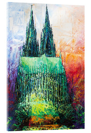 Quadro em acrílico  Cologne Cathedral Abstract - Renate Berghaus