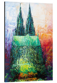 Quadro em alumínio  Cologne Cathedral Abstract - Renate Berghaus