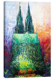 Quadro em tela  Cologne Cathedral Abstract - Renate Berghaus