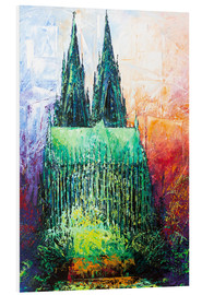Quadro em PVC  Cologne Cathedral Abstract - Renate Berghaus