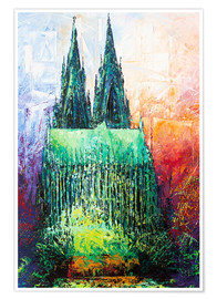 Póster Premium  Cologne Cathedral Abstract - Renate Berghaus