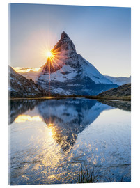 Quadro em acrílico  Riffelsee and Matterhorn in the Swiss Alps - Jan Christopher Becke
