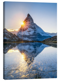 Quadro em tela  Riffelsee and Matterhorn in the Swiss Alps - Jan Christopher Becke
