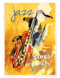 Póster Premium Jazz comes back