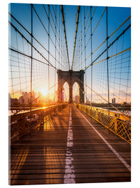 Quadro em acrílico  Brooklyn Bridge in the sunlight, New York City, USA - Jan Christopher Becke