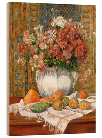Quadro de madeira  Still Life with Flowers and Prickly Pears - Pierre-Auguste Renoir
