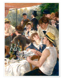 Póster Premium Luncheon of the Boating (Detail)