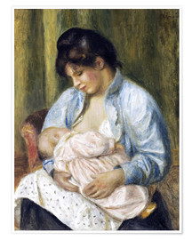 Póster Premium A Woman Nursing a Child