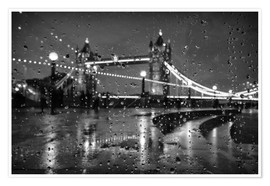 Póster Premium  Tower Bridge Tears London - Alex Saberi