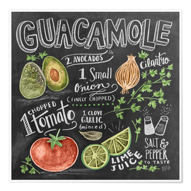 Póster Premium  Guacamole (inglês) - Lily & Val