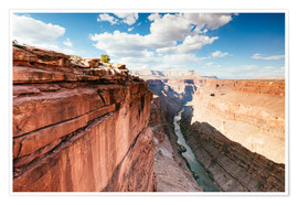 Póster Premium  Sunset over the Colorado river, Grand Canyon, USA - Matteo Colombo