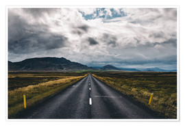 Póster Premium Streets of Iceland # 1
