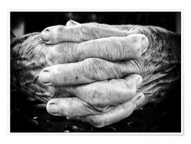 Póster Premium  Hands of an old man