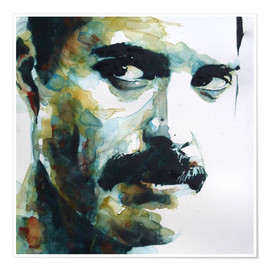 Póster Premium  Freddie Mercury - Paul Lovering Arts