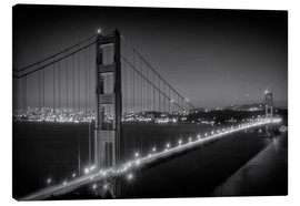 Quadro em tela  Evening Cityscape of Golden Gate Bridge - Melanie Viola