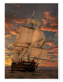 Póster Premium  O HMS Victory - Peter Weishaupt