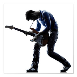 Póster Premium  Musician with an electric guitar
