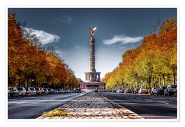 Póster Premium  Victory Column Berlin during Fall - Sören Bartosch