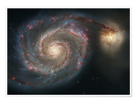 Póster Premium Spiral nebulae - beauty of the universe
