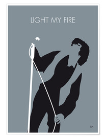 Póster Premium Jim Morrison - Light My Fire