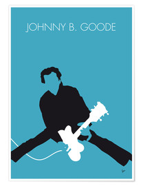 Póster Premium Chuck Berry - Johnny B. Goode