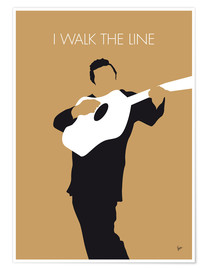 Póster Premium Johnny Cash - I Walk The Line
