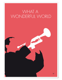 Póster Premium Louis Armstrong - What A Wonderful World