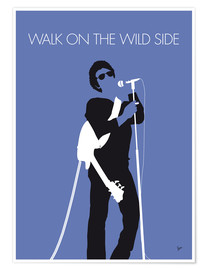 Póster Premium Lou Reed - Walk On The Wild Side