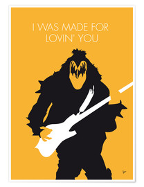 Póster Premium  Kiss - I Was Made For Lovin' You - chungkong