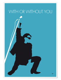 Póster Premium U2, With or without you