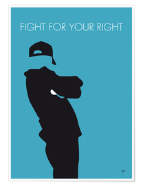 Póster Premium Beastie Boys - Fight For Your Right
