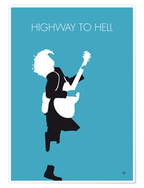 Póster Premium ACDC, Highway to hell