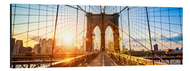 Quadro em alumínio  Brooklyn Bridge in New York City, USA - Jan Christopher Becke