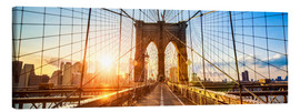 Quadro em tela  Brooklyn Bridge in New York City, USA - Jan Christopher Becke