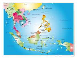 Póster Premium  Southeast Asia - Hotels, before 2002