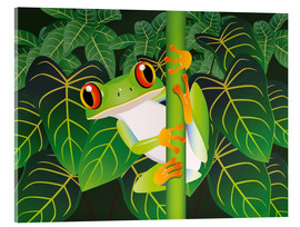 Quadro em acrílico  Hold on tight little frog! - Kidz Collection