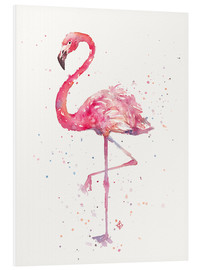 Quadro em PVC  Fancy Flamingo - Sillier Than Sally