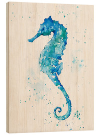 Quadro de madeira  Sailing Along (Seahorse) - Sillier Than Sally