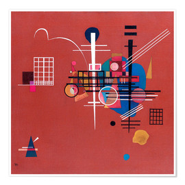 Póster Premium  dull red - Wassily Kandinsky