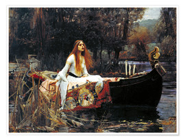 Póster Premium  A Dama de Shalott - John William Waterhouse