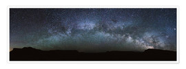 Póster Premium Panoramic of the Milky Way arch, United States