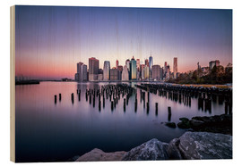 Quadro de madeira  Sunrise New York City - Sören Bartosch